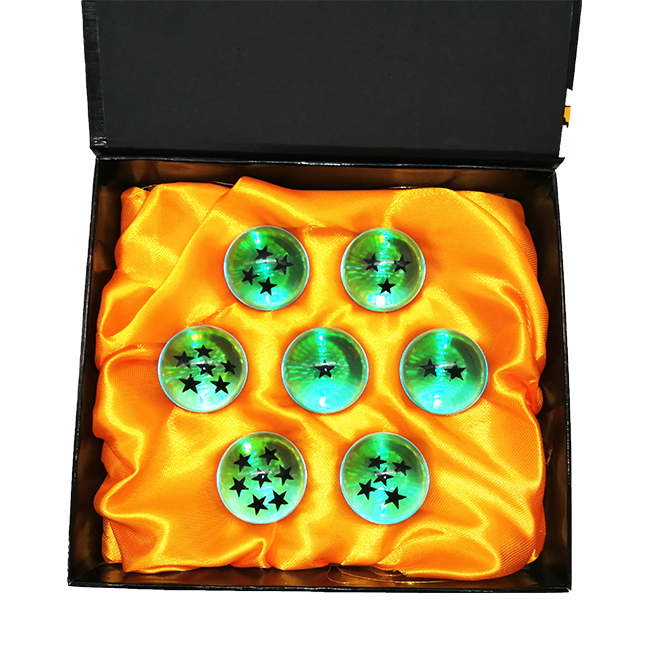 Resina Dragon Ball 35 MM Dragon Ball Z New In Box 7 Estrelas Bolas Conjunto de 7 pcs Conjunto Completo