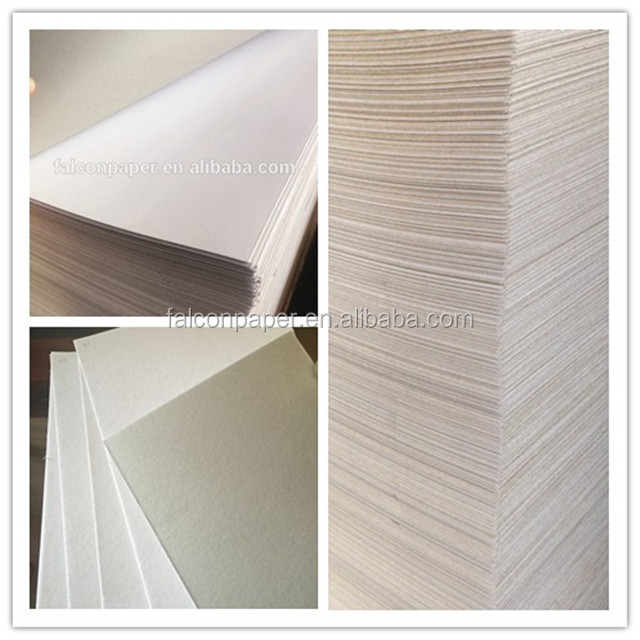 250gsm Waste White Coated Grey Back Duplex CardBoard Paper