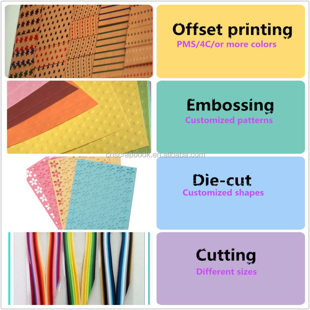 Scrapbook paper cardstock - 12x12 Printable Kraft Paper Printed Unique Scrapbook Paper