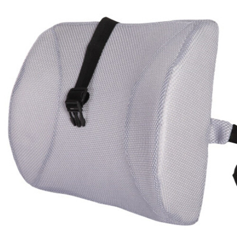 Moyishi Gray High Resilient Memory Foam Seat Back Lumbar Cushion Support Pillow Car Office Chair Back Support
