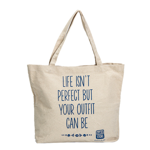 Promotional blank standard size natural cheap cotton canvas shopping tote bag