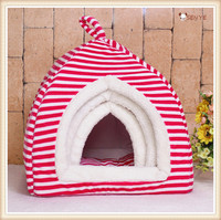 Indoor House Hot Seller Dog House Stripe Soft And Comfortable Pet Bed Cat Dog House