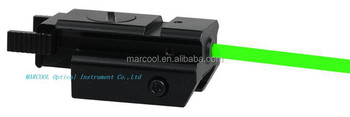 Red laser sight/Tactical Compact Pistol Weaver Rail Green Laser Sight with Tail Switch(JG-10)for Pistol Gun
