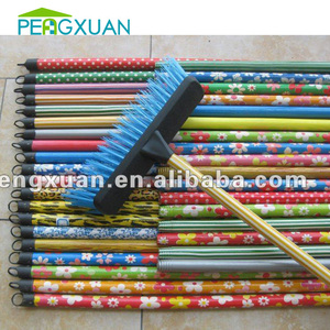 mop/dust/broom household colorful pvc coated floor cleaning stick with thread