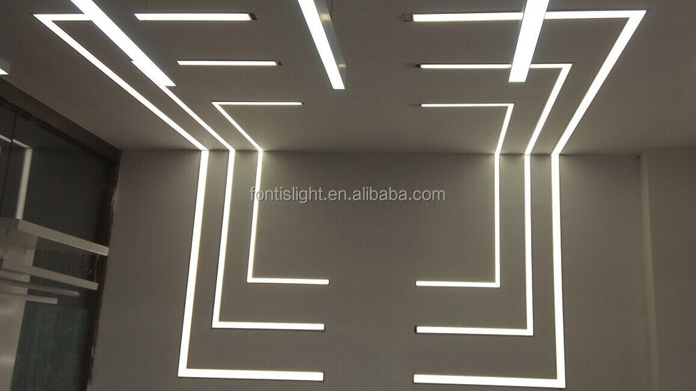 T Shape Aluminum Profiles For 30w Recessed Led Ceiling Light Buy T Shape Aluminum Profiles For
