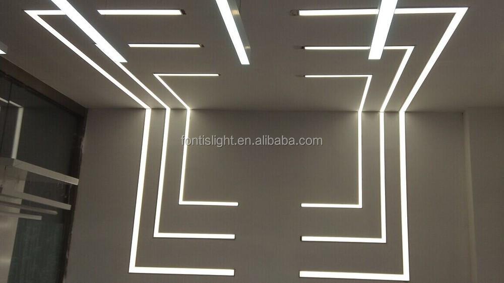 Recessed Led Profiles For Wall Lightigng Aluminum Led