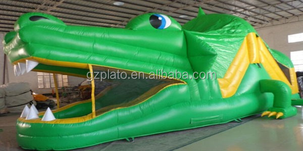 Nice Inflatable Crocodile Obstacle Course / Giant Inflatable Dinosaur Game For  Adults And Kids