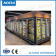 Ice cream and Popsicle closed commercial refrigeration frozen food display freezer for hypermarket