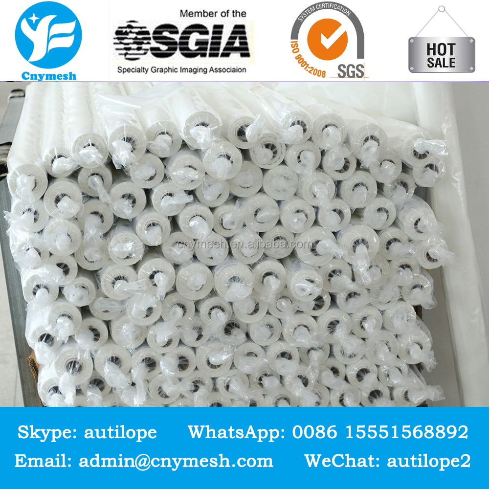 white polyester mesh 160 micron textile silk screen printing mesh fabric netting