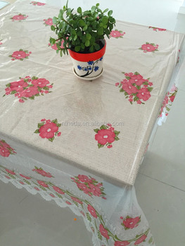 Wipeable Table Cloths In Rolls For Plastic Clear Printed Cloth Cover Transpa