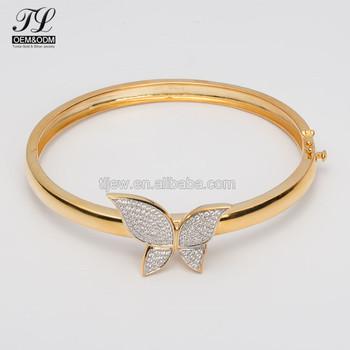 Erfly Diamond Women Gold Bangles Dubai Saudi Arabia Designs 925 Silver Bangle Product