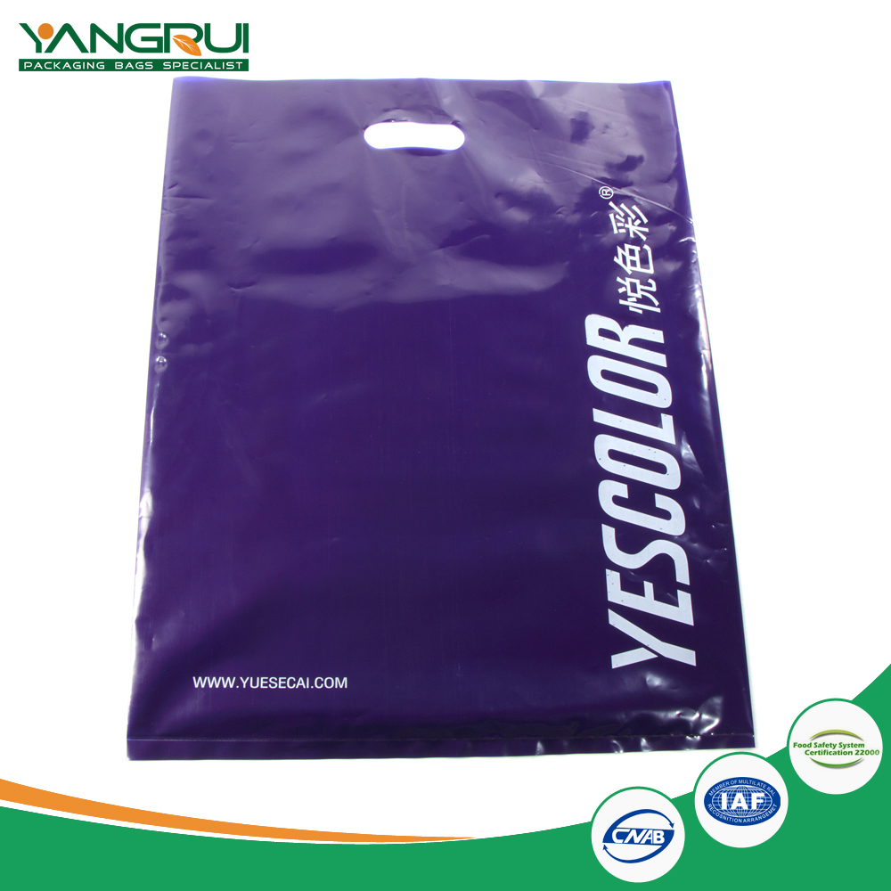 100% biodegradable ldpe plastic bag die cut bag manufacturer