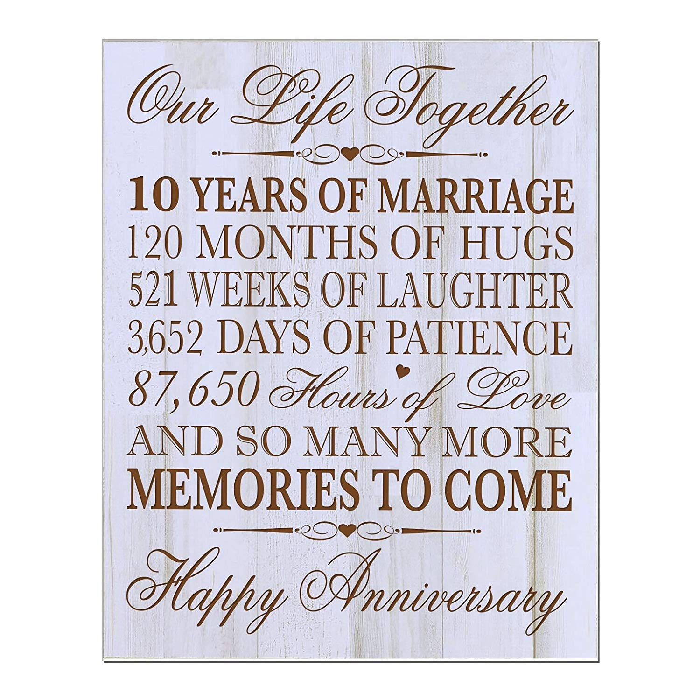 10 Year Wedding Anniversary.Buy Lifesong Milestones 10th Wedding Anniversary Wall Plaque Gifts