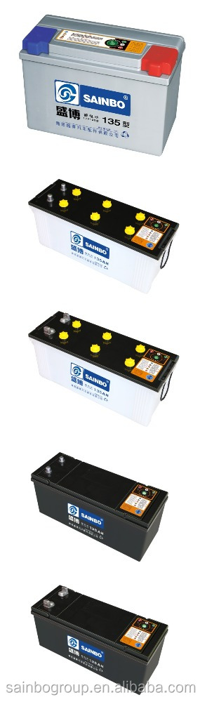 Dry auto car battery JIS Standard MF Car Battery giant power battery 95d31R/L 12V135AH