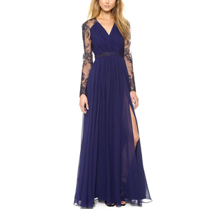 777abc72aef Yihao New Design Fashion Sexy Lace Long Chiffon Evening Formal Party  Cocktail Dress Bridesmaid Prom Gown