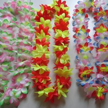 Party decoration supplies hawaiian flower lei colorful silk hawaiian party decoration supplies hawaiian flower lei colorful silk hawaiian necklace leis mightylinksfo