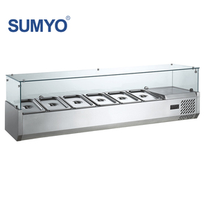 Stainless steel restaurant refrigerated equipment table top salad bar