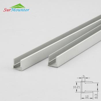 Led Gl Edge Lighting Fixture Aluminum Light Kit For 8mm Shelf