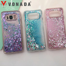 Bling Bling Glitter Liquid Quicksand Rubber TPU Gel Soft Phone Case Cover For Samsung Galaxy S8 / S8 Plus