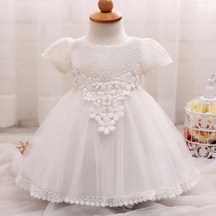 Fancy Frocks Beautiful Evening Gown Kids Girls Lace Short Sleeve ...