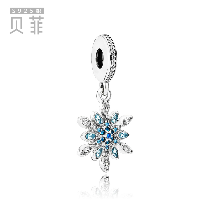 Sparkling sterling silver charm jewellery brand imitation European bracelet accessories