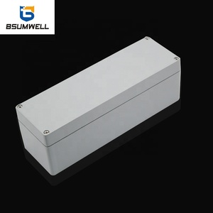 China Manufacturer Wholesale IP67 Protection Level Waterproof Die Cast Square Aluminum Switching Electronic Enclosure Box