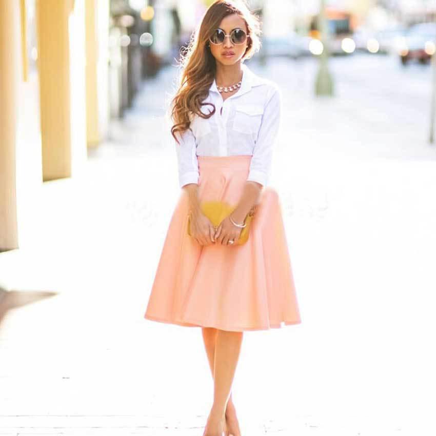 Cheap High Waist Flared Skirt, find High Waist Flared Skirt deals ...