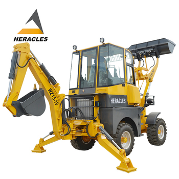 Low Noise Compact 4x4 Tractor Loader Backhoe With 3 Point Hitch Attachment  4 Hydraulic Function For Front Attachments - Buy 4x4 Tractor Loader