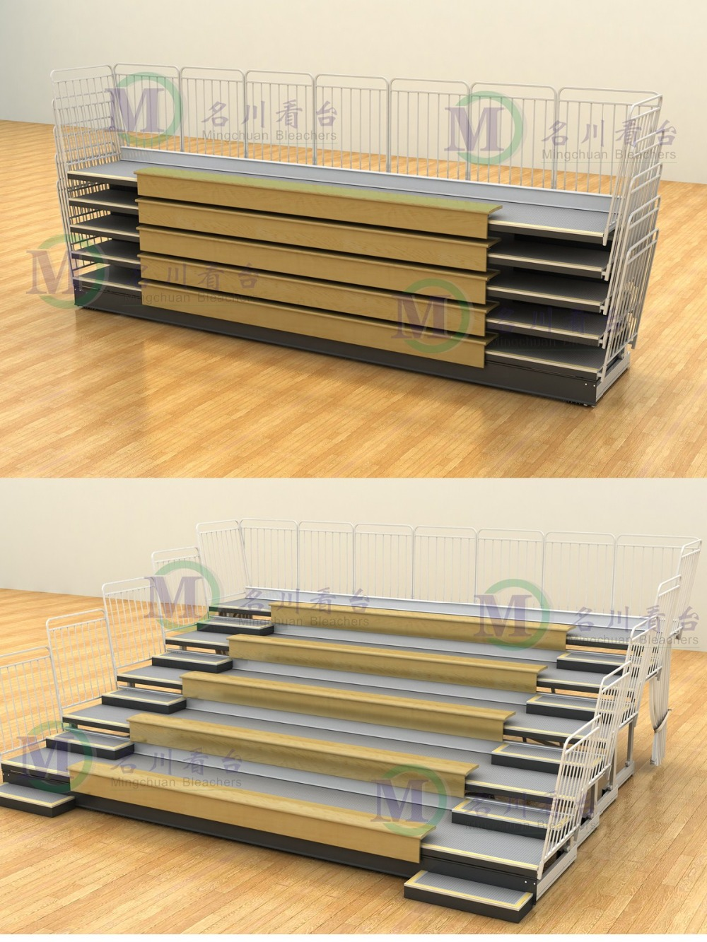 Jupiter Indoor Spectator Grandstand Chairs Telescopic
