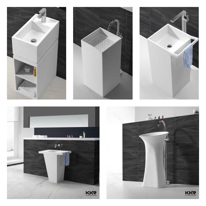 High Quality Long Narrow Bathroom Sink / Rectangle Shape Wash Sink