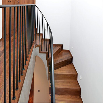 Internal Straight Stainless Steel Structural Low Cost Wood Staircase Design