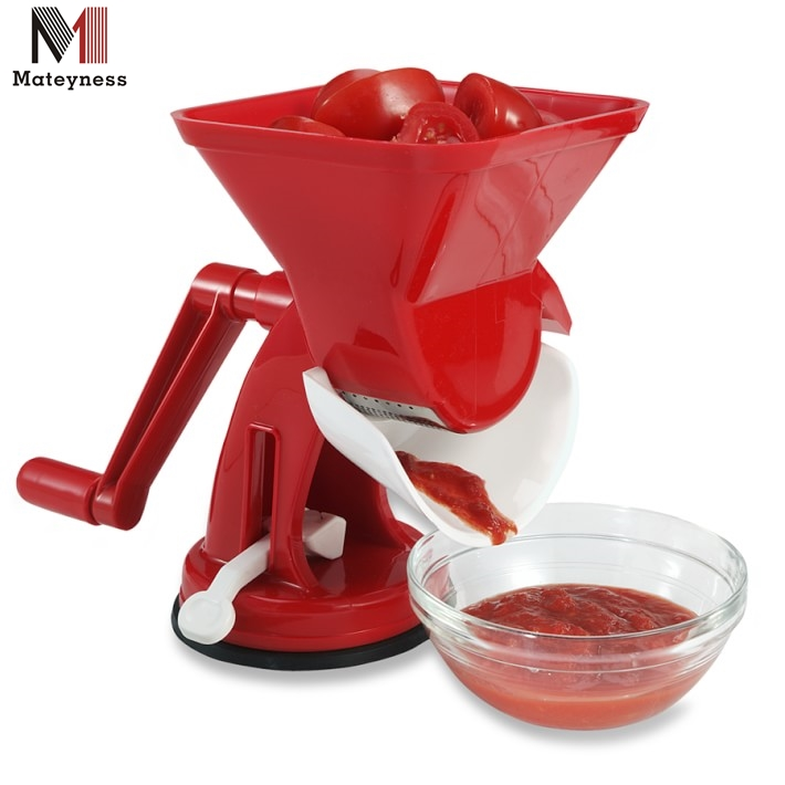 Plastic manual vegetable tomato squeezer for tomato sauce maker