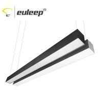 Linear LED Lighting fixtures 4ft 40W UGR19 Seamless Connection Use For Workplace, Supermarket, Restaurant, Shoplight