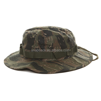 28151d40f4e 2018 New Boonie Cap Classic Custom Military Camo Bucket Hat With String