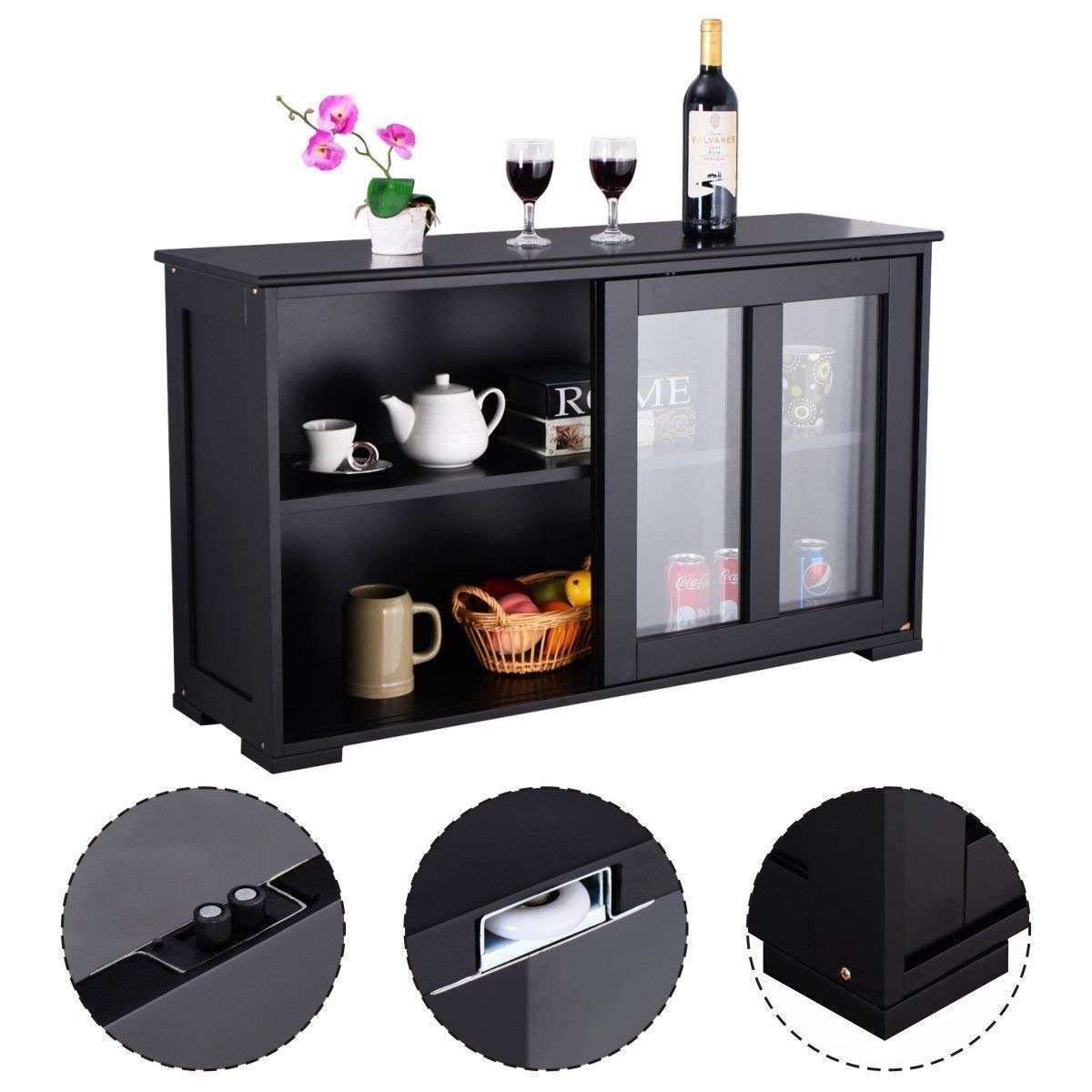 Kitchen Storage Sideboard, Antique Stackable Cabinet for Home Cupboard Buffet Dining Room BeUniqueToday