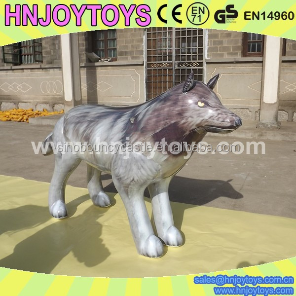 Kids Inflatable Wolf Toy,Life Size Toy Inflatable Wolf