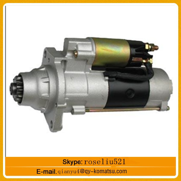 Stock PC200-1 excavator starting motor assy 6D105 engine part 24V