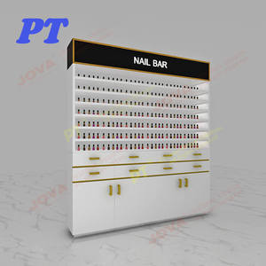 Wholesale Portable Wall Mounted Modern Salon Furniture Floor Display Stands Shelf Acrylic Essie Nail Polish Display Rack