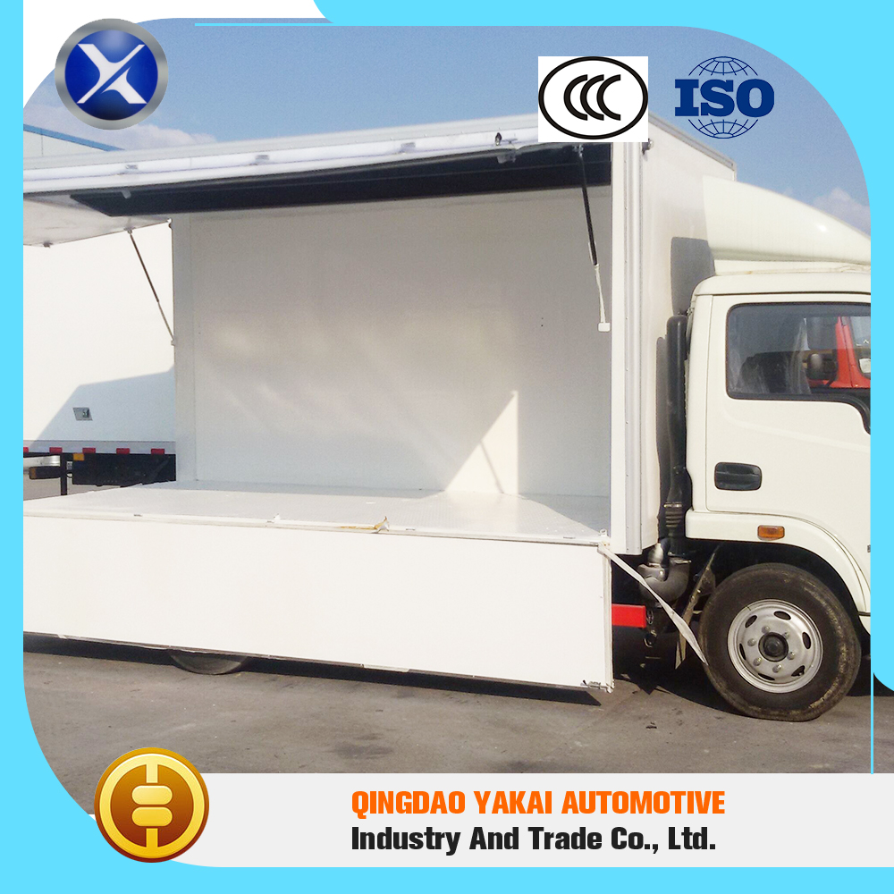 High temperature control precision hot sale mobile food refrigerated trucks body cargo box
