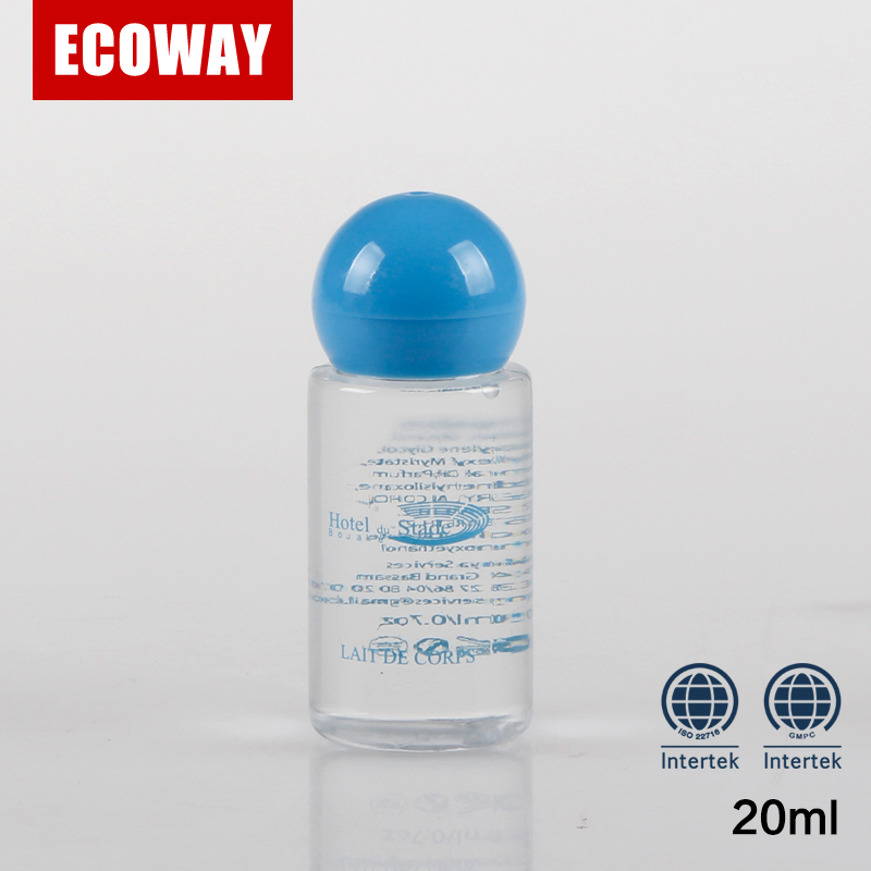 20ml hot sale hotel screw cap shampoo bottles clear plastic bottles