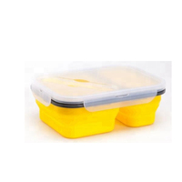 Collapsible Lunch Box Best Bento Silicone Lunchbox With Two Compartments, BPA Free, Great for School