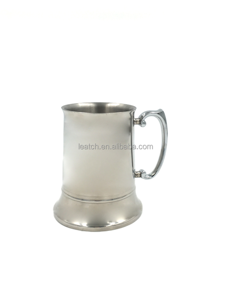 Stainless Steel Double Wall Beer Mugs High Quality Beverage Cup
