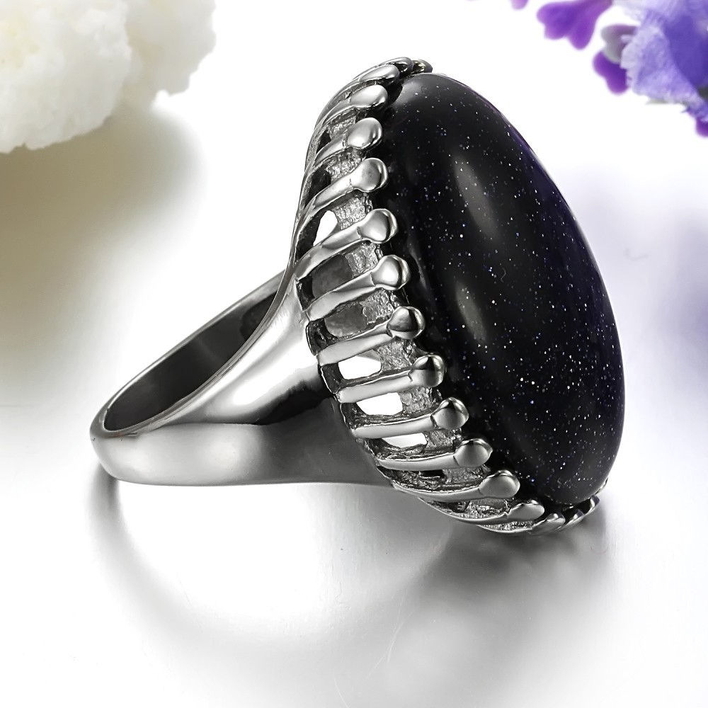 2015 Hot Selling 925 Silver Ring With Black Stone - Buy 925 Silver ...