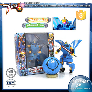 Fighting Warrior Pattern Transformable Plastic Kid Toy Robot