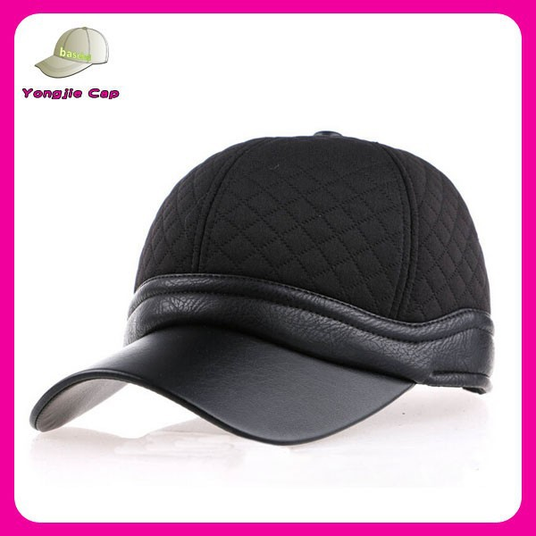 new fashion high quality caps custom made leather brim wholesale old style baseball cap without logo