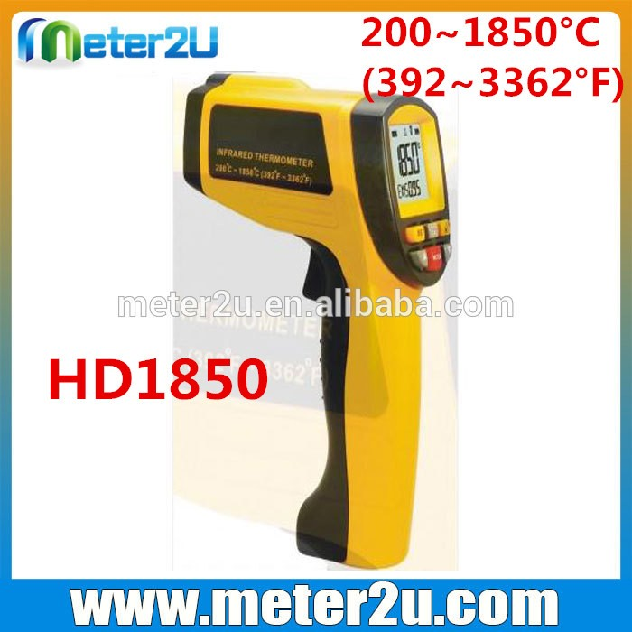 200~1850 pyrometer high temperature infrared thermometer with laser