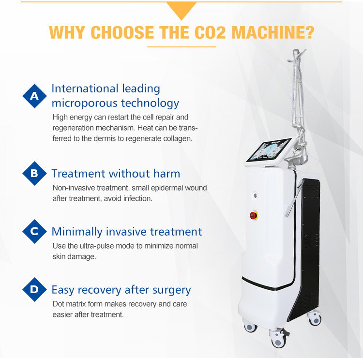 Melhor eficaz vaginal e cuidados com a pele co2 fractional laser médico