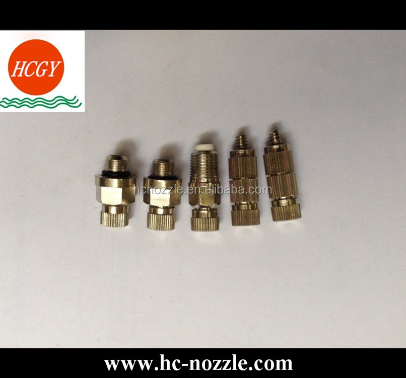 Metal High Pressure Drip Free Atomizing Fog Misting Nozzle