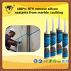 100% RTV remove silicon sealants from marble caulking