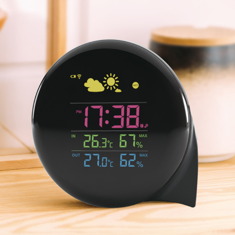 Digital Desk Clock with Calendar HAPTIME Azan Clock Sunrise Alarm Clock for Both Office and Home